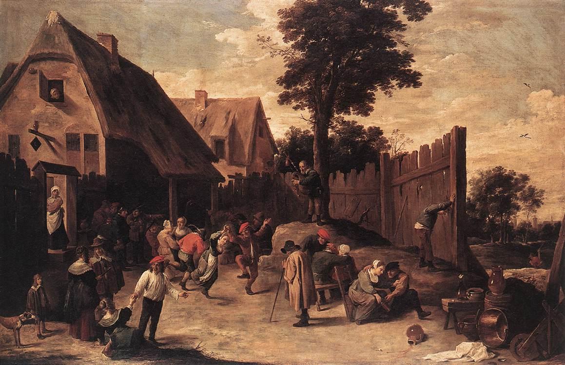 Camponeses dançando