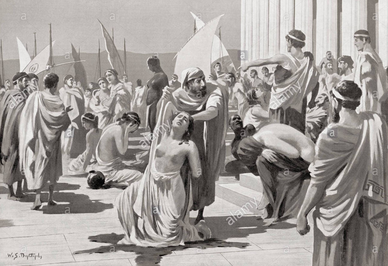 Mercado de escravos grego